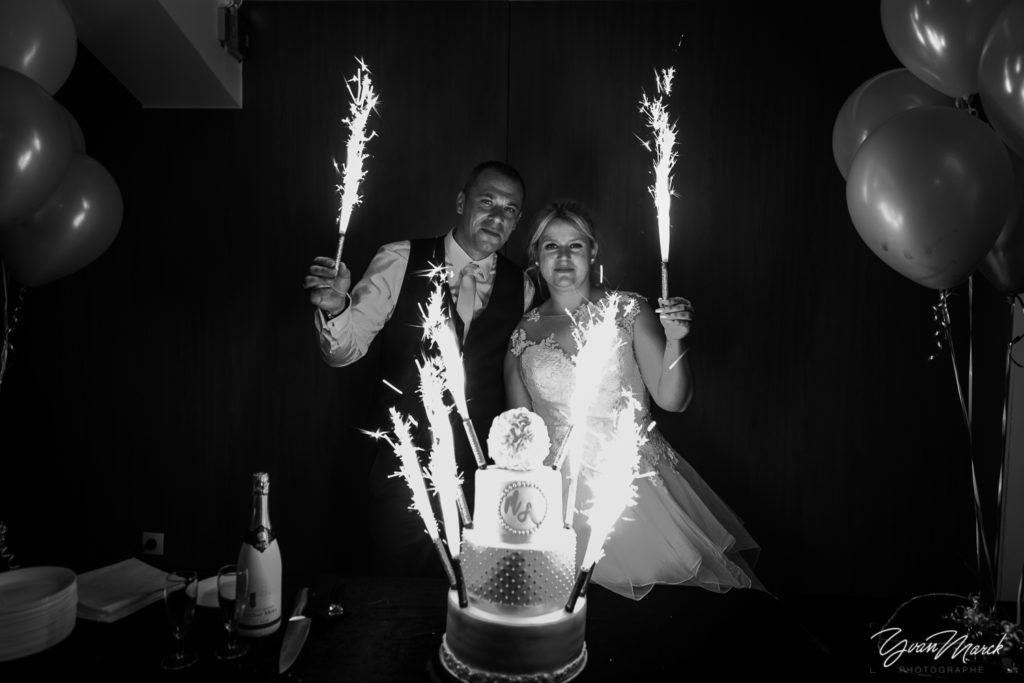 Soirée au RJ16 Illkirch, la piece montee pendant la journée de mariage par yvan marck photographe de mariage a strasbourg en alsace