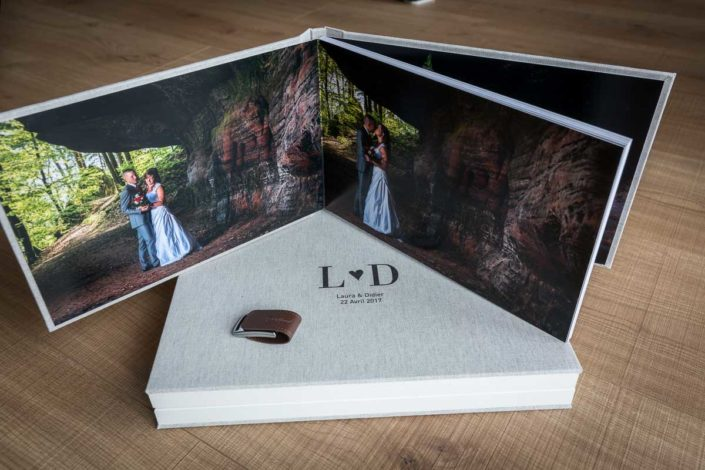 detail album photo mariage luxe