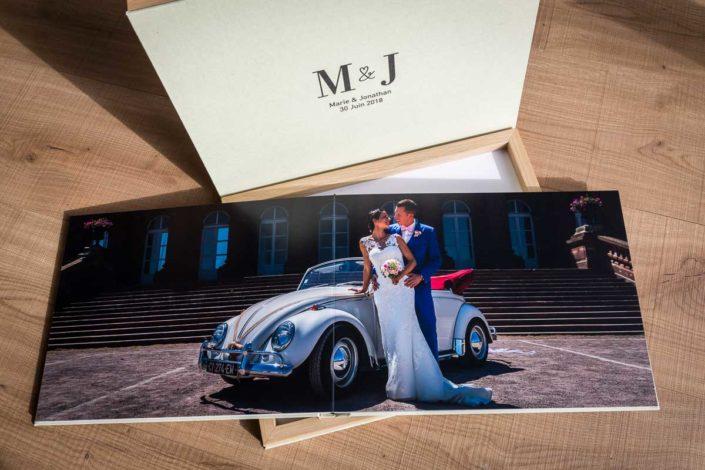 album mariage couverture lin papier mat