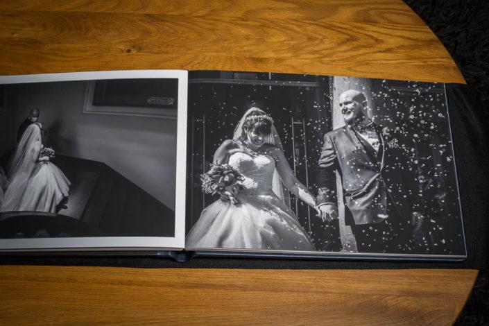 livre mariage noir & blanc luxe