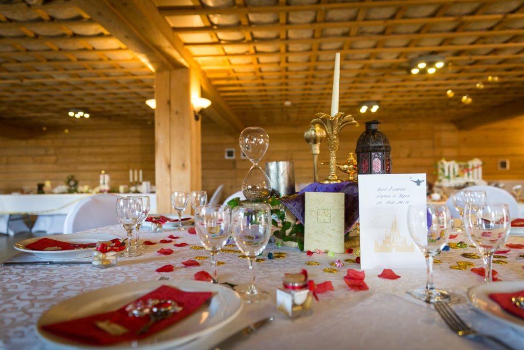 deco de table mariage disney aladin