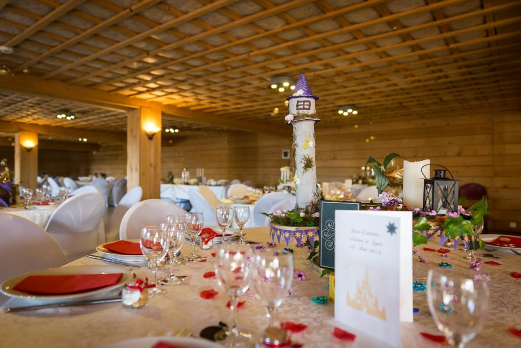 deco de table mariage Disney response conte de fée