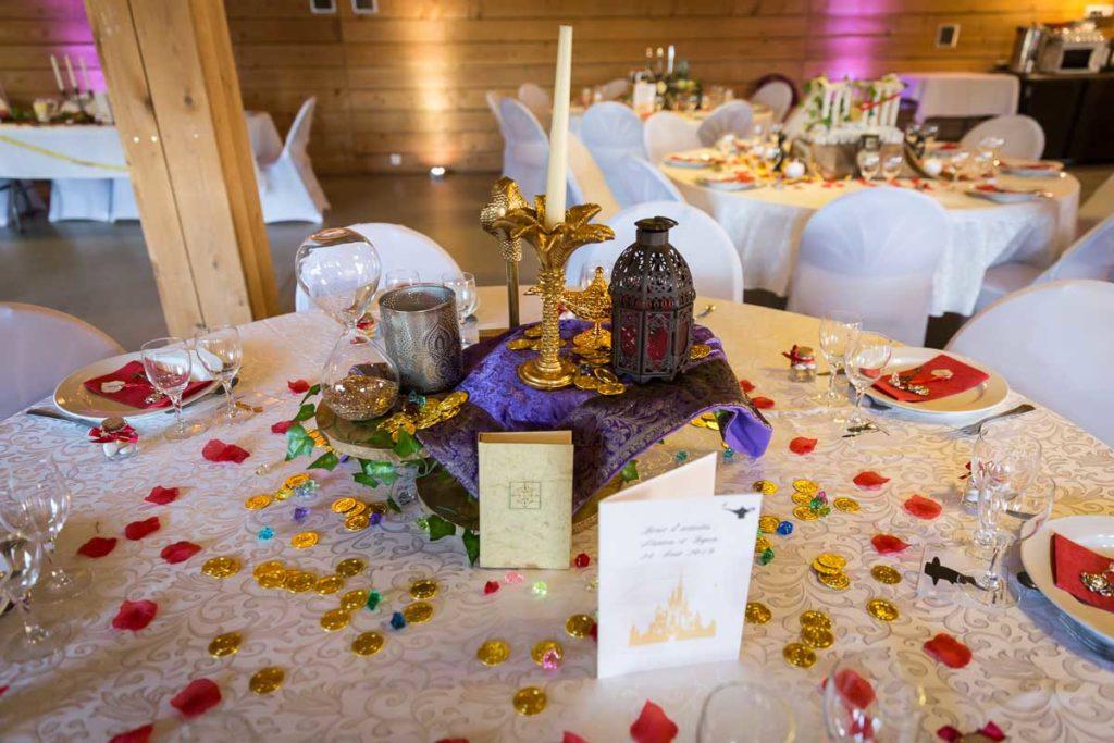 deco de table mariage disney conte de fée