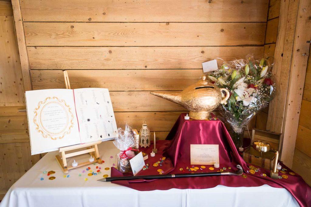 deco de table mariage disney aladin conte de fée