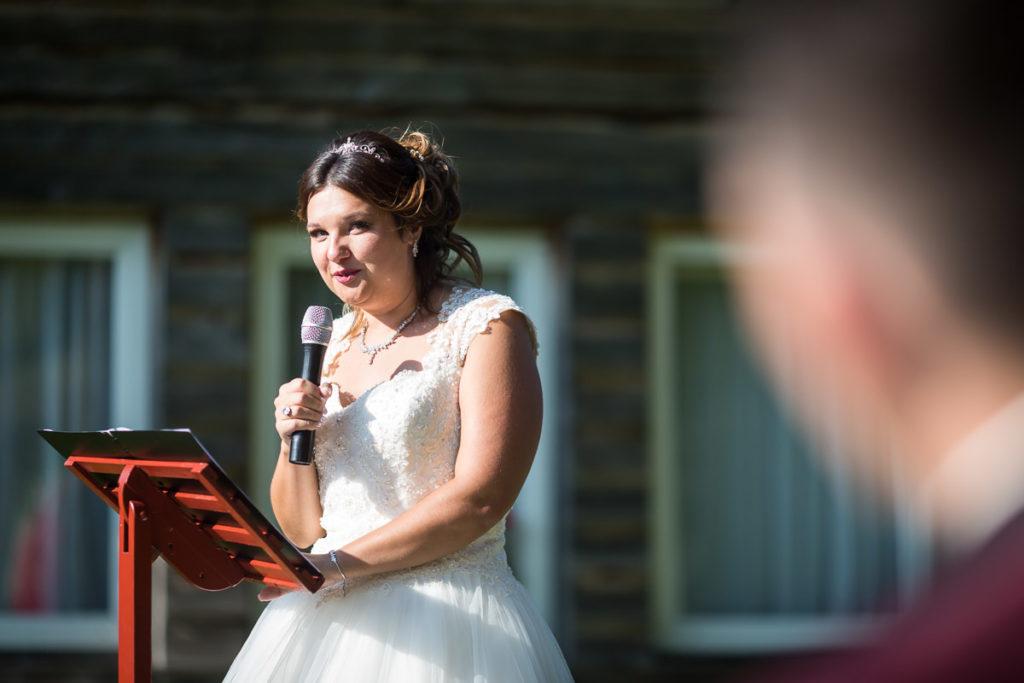 discour de la mariée ceremonie laique