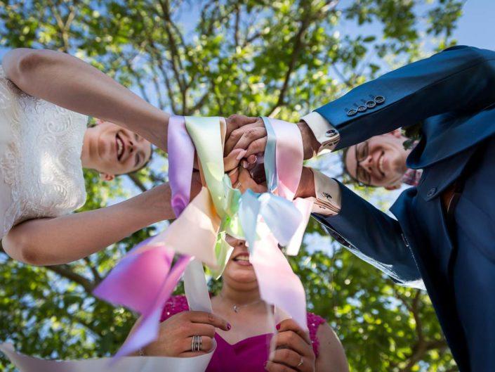 mariage ceremonie laique rubans