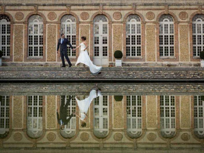 couple de marié reflet