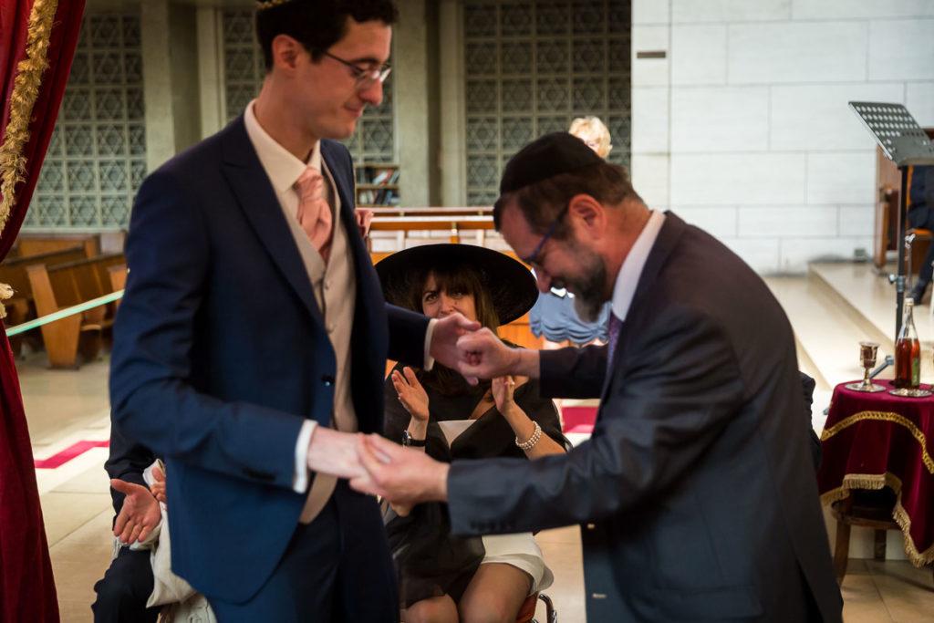 danse rabbin et le marié