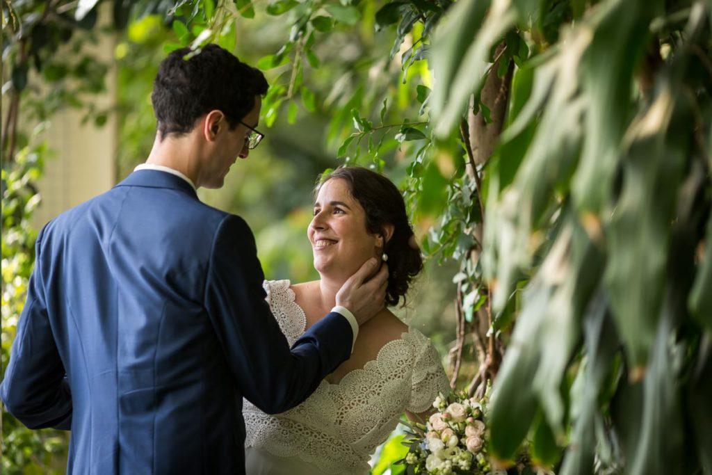 photo de couple au jardin botanique de strasbourg