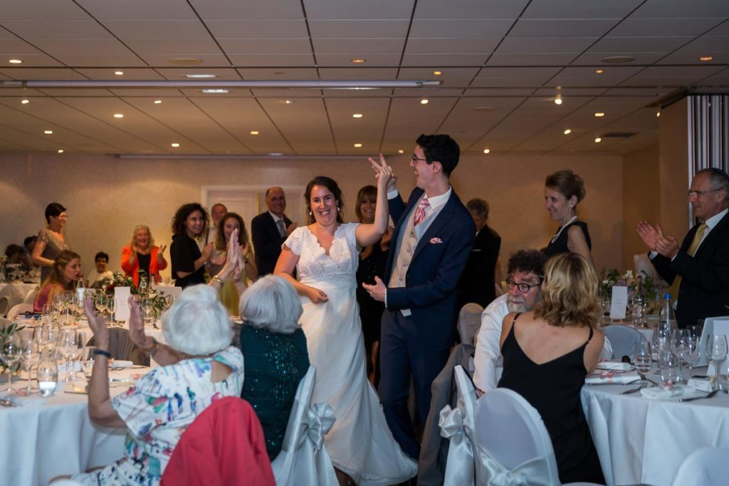arrivé mariés soirée mariage juif au chateau de l'ill