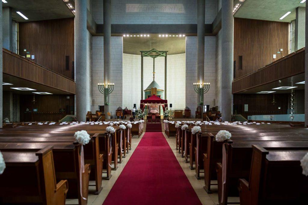 intérieur de la grande synagogue de Strasbourg