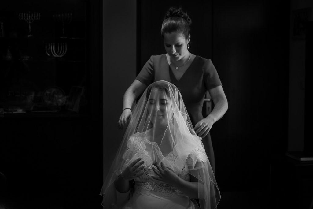 la mariée et son voile