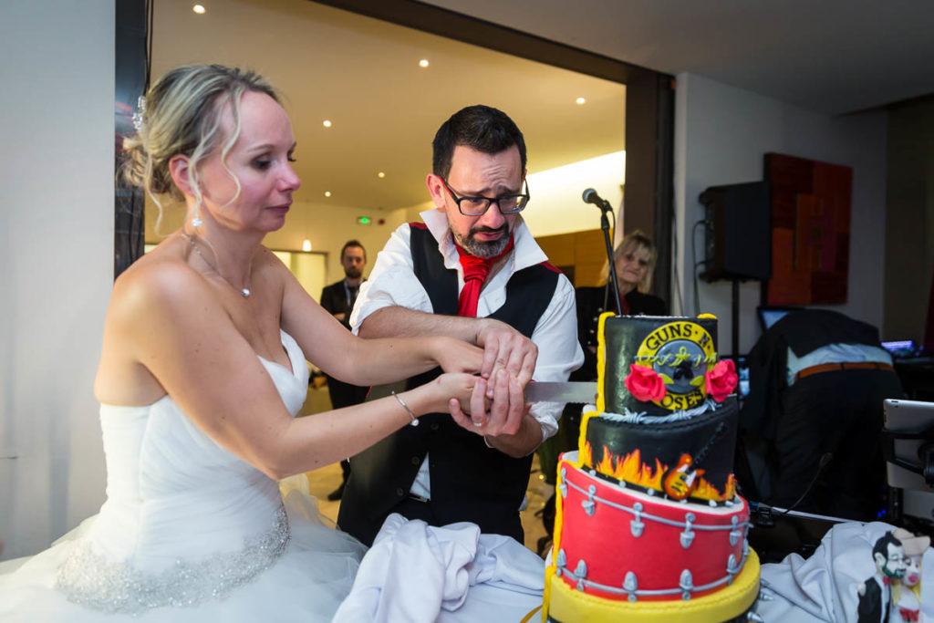 decoupe gateau de mariage