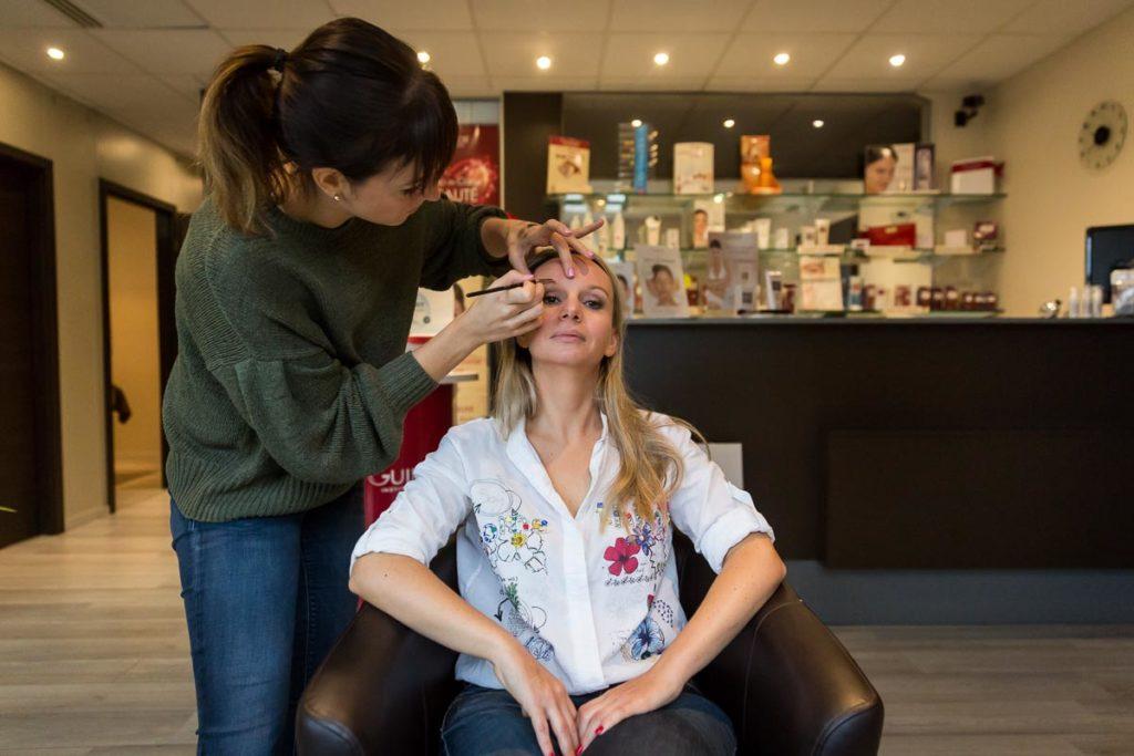 maquillage préparatifs mariée