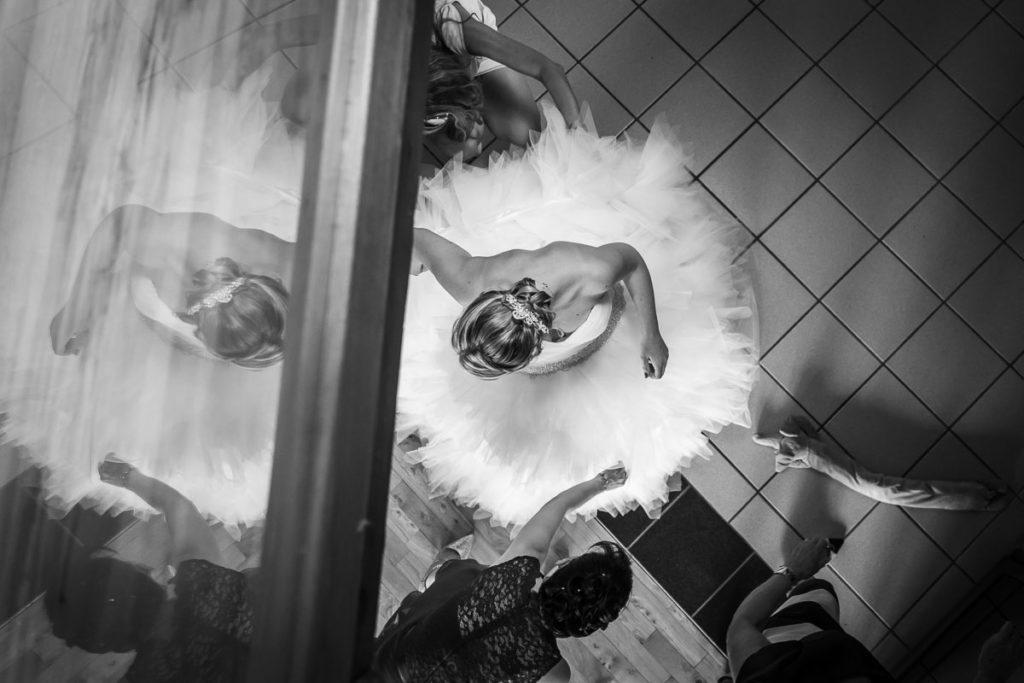 préparatifs robe de la mariée