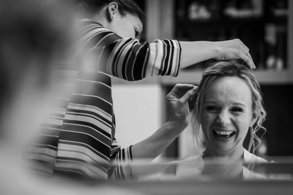 préparatifs mariée coiffure