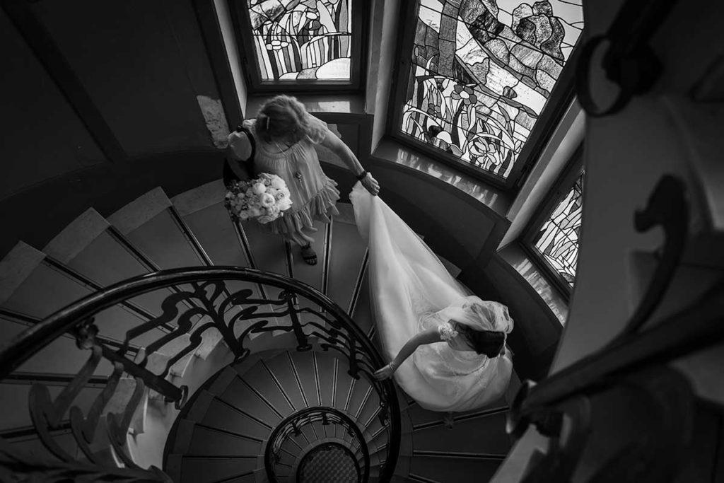 Un lieu élégant pour les préparatifs de mariage