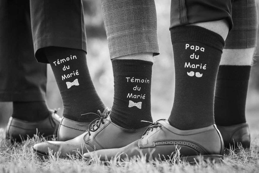 idee mariage original chaussettes des temoins