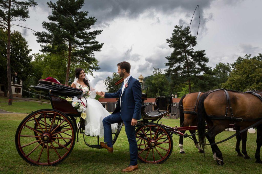 idee mariage original caleche
