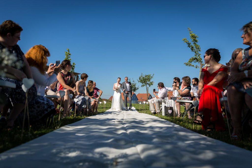 arrivée de la mariée cérémonie laique
