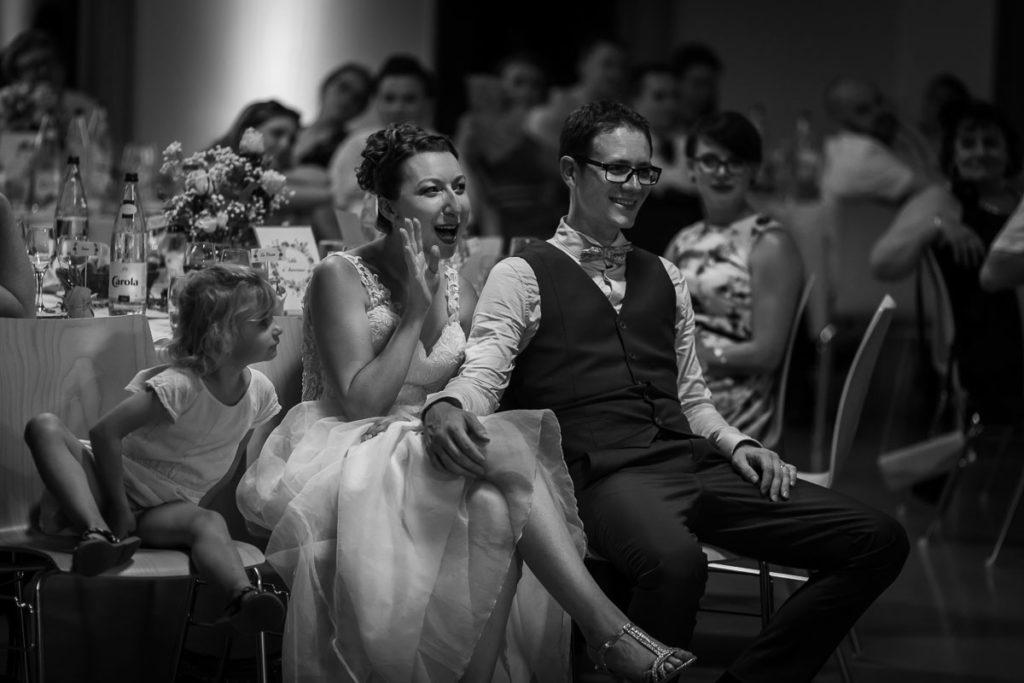 les mariés en soirée