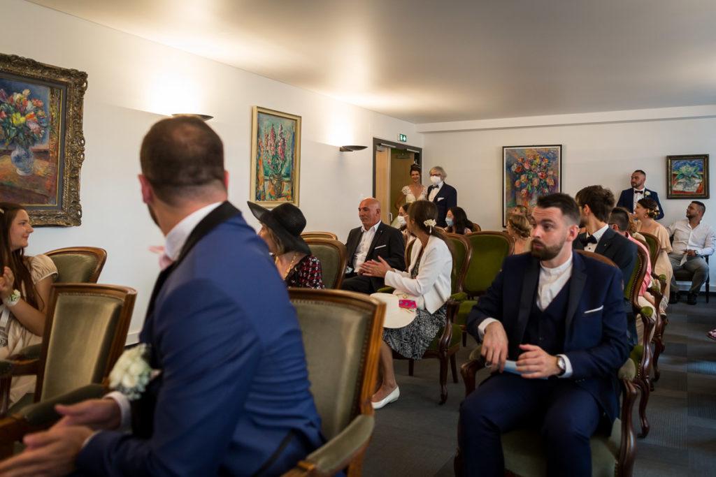 mariage alsace ceremonie brumath entrée photographe mariage