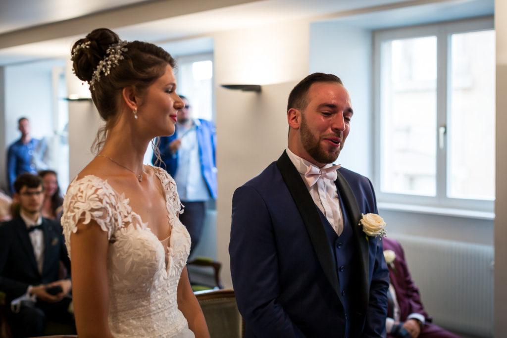 mariage alsace ceremonie brumath emotion marié photographe mariage