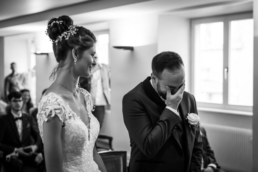 mariage alsace ceremonie brumath emotion photographe mariage